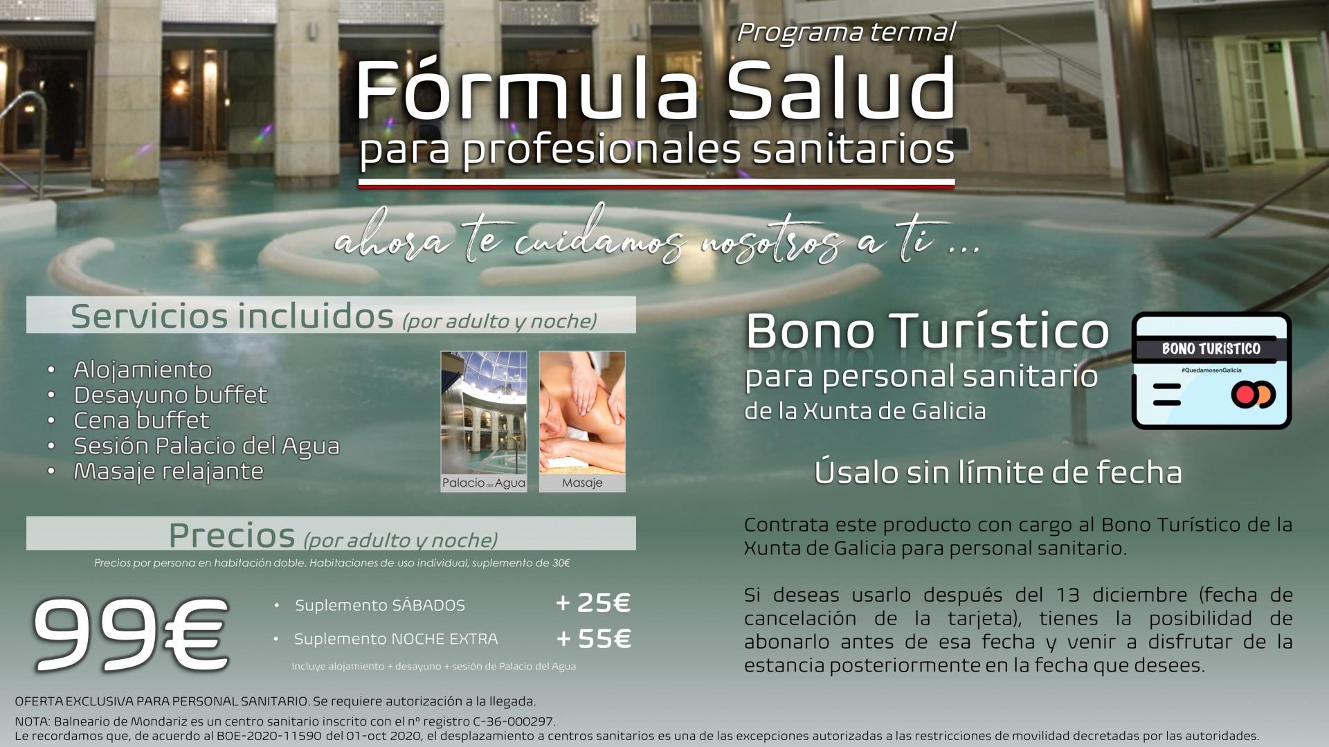 FÓRMULA SALUD · Programa Termal para profesionales sanitarios