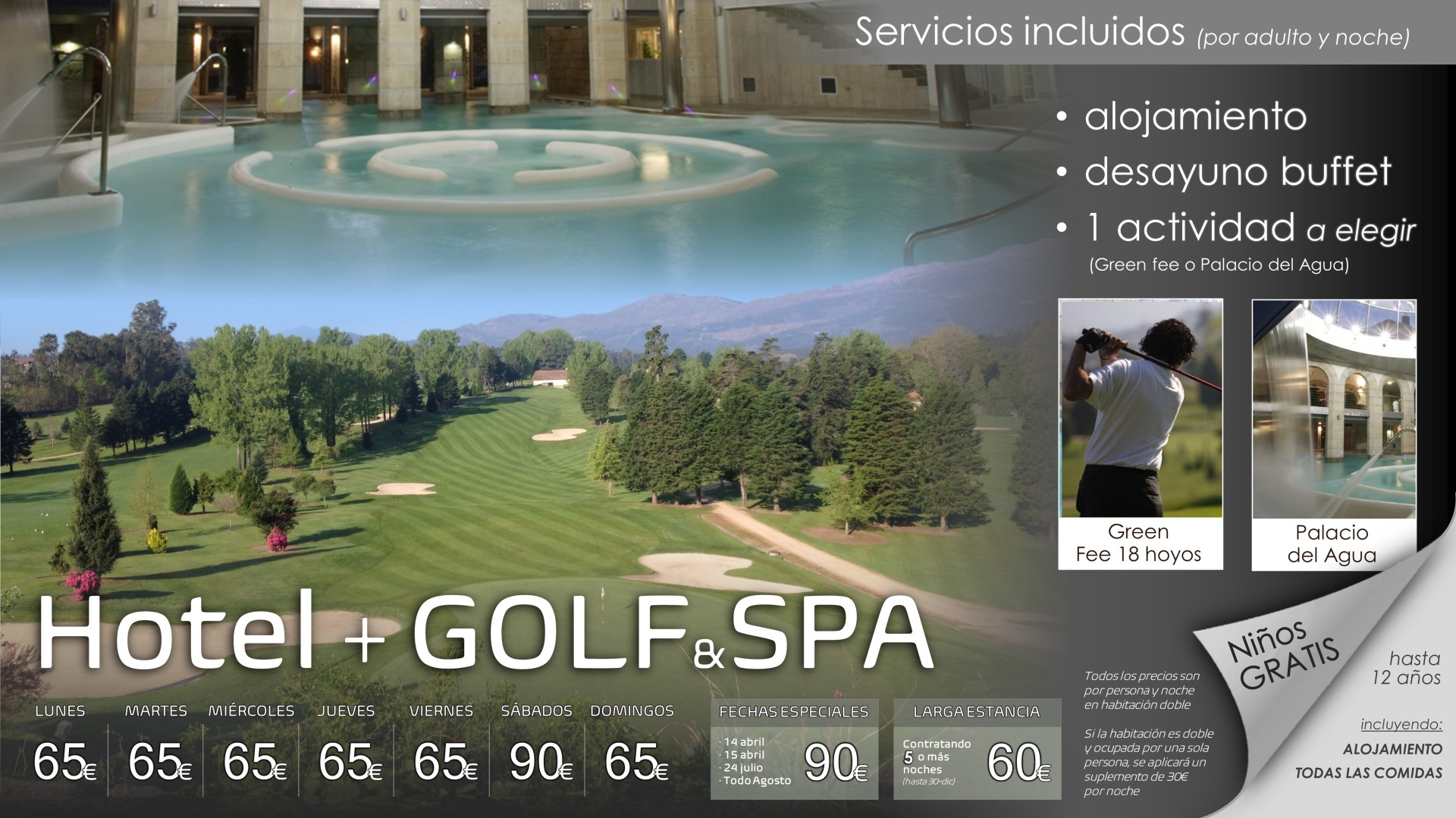 OFERTA HOTEL + GOLF o SPA