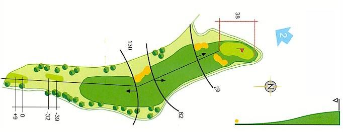 Hoyo 1 Campo de Golf Mondariz