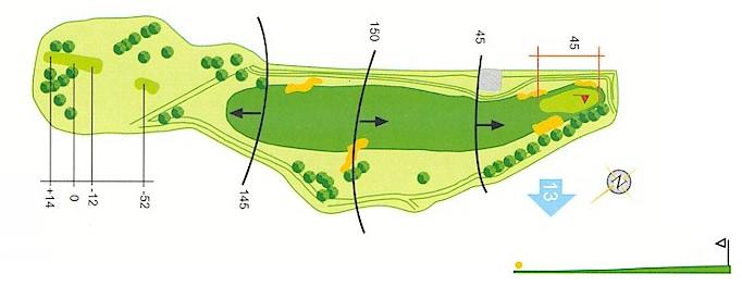Hoyo 12 Campo de Golf Mondariz