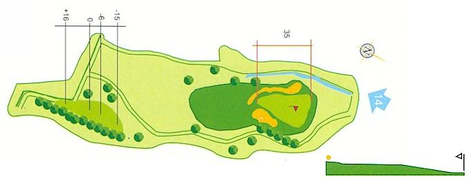 Hoyo 13 Campo de Golf Mondariz