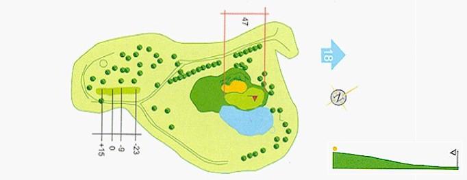 Hoyo 17 Campo de Golf Mondariz